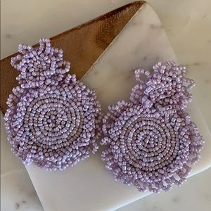 BOGO! Lilac Beaded Statement Earrings
